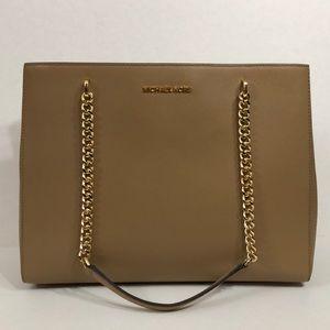 Michael Kors large brown tote bag